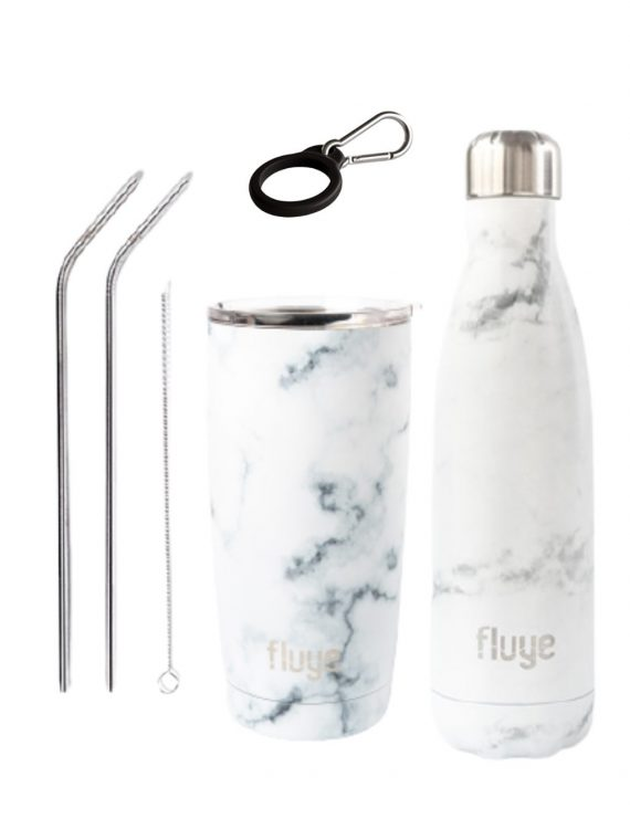 Duo White Marble